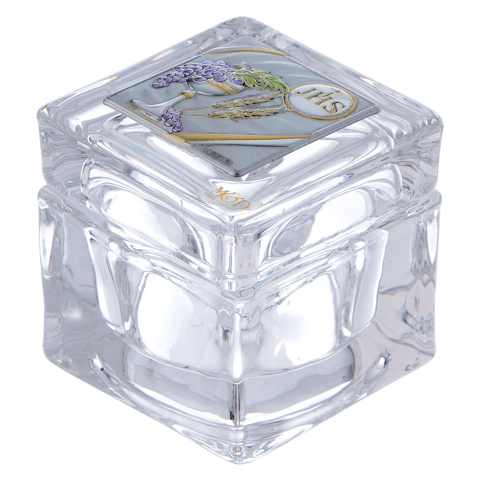 Religious favor crystal box Communion 2x2x2 in 3
