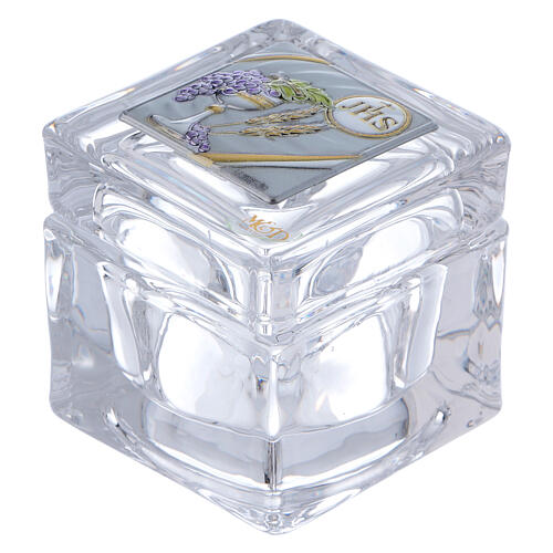 Religious favor crystal box Communion 2x2x2 in 1
