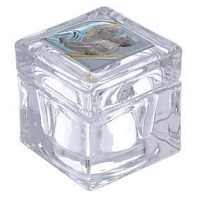 Bomboniera religiosa scatola Maternità 5x5x5 cm s1