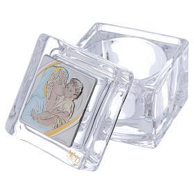 Bomboniera religiosa scatola Maternità 5x5x5 cm s2