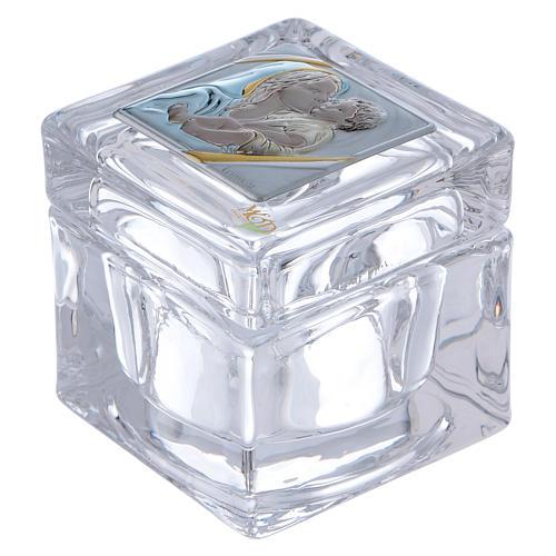 Bomboniera religiosa scatola Maternità 5x5x5 cm 1
