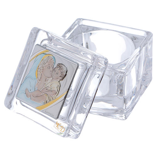 Bomboniera religiosa scatola Maternità 5x5x5 cm 2