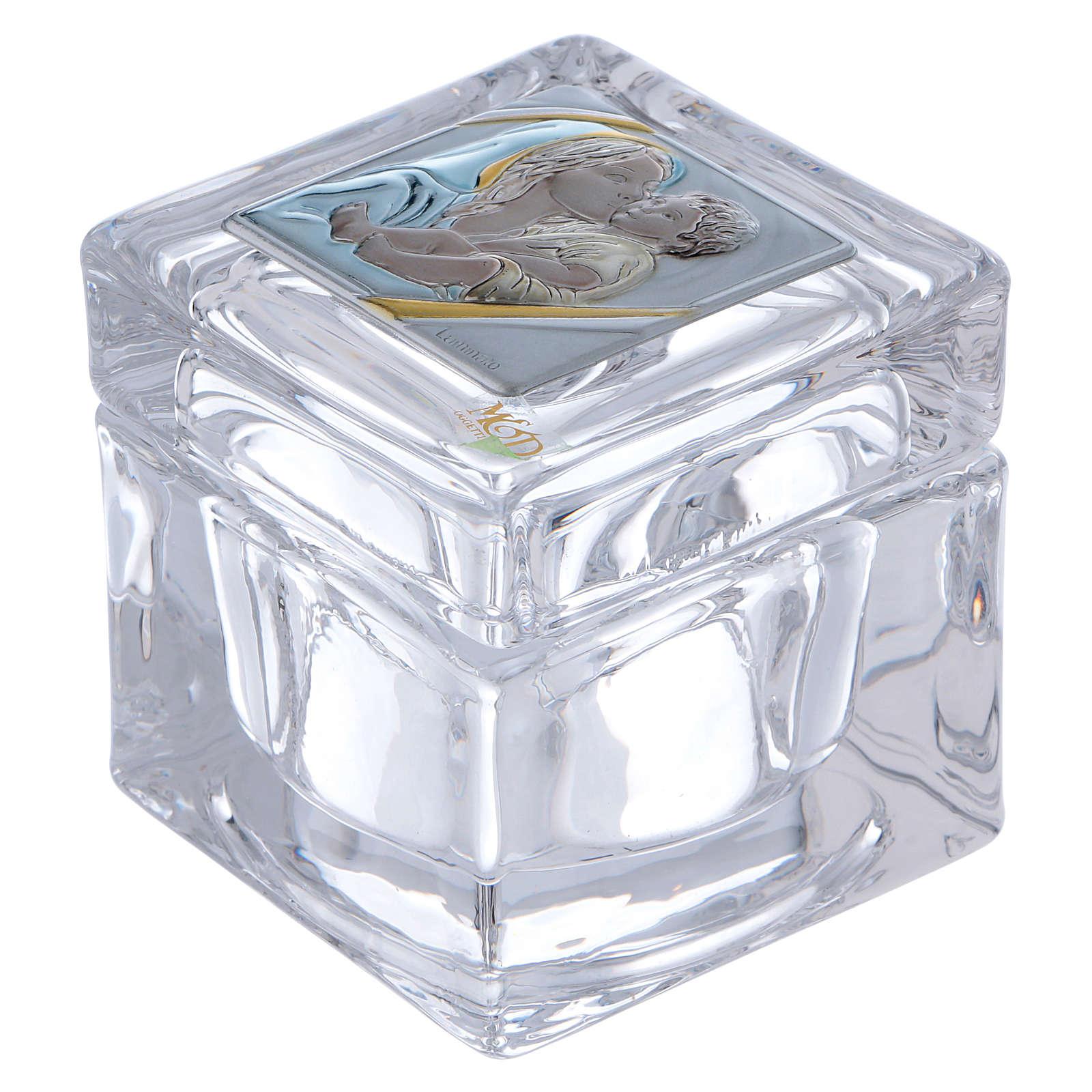 Lembrancinha religiosa caixinha Maternidade 5x5x5 cm 3