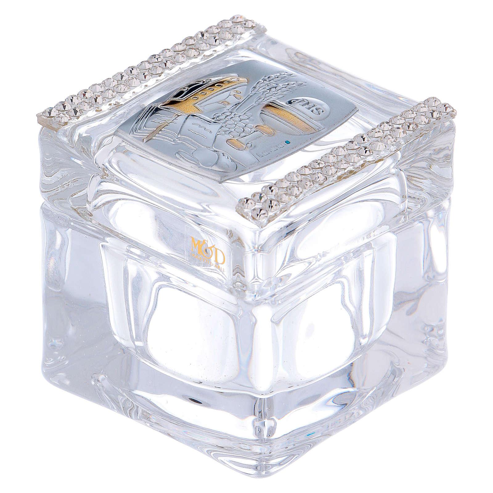 Bomboniera Cresima e Comunione scatolina 5x5x5 cm 3