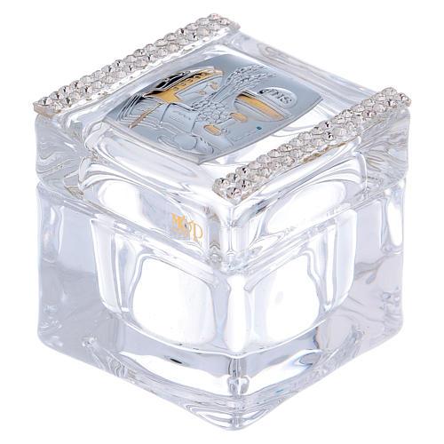 Bomboniera Cresima e Comunione scatolina 5x5x5 cm 1