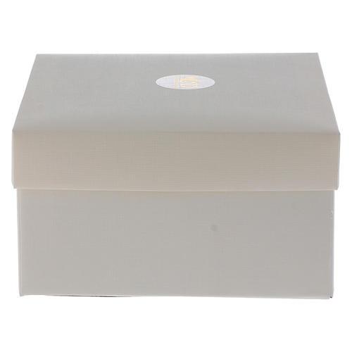 Bombonera Comunión Cruz con lámina plata 10x5 cm 4