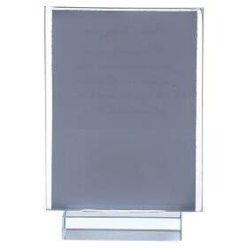 Andenken Kommunion Fotorahmen aus Glas und Kristall, 10x5 cm s3
