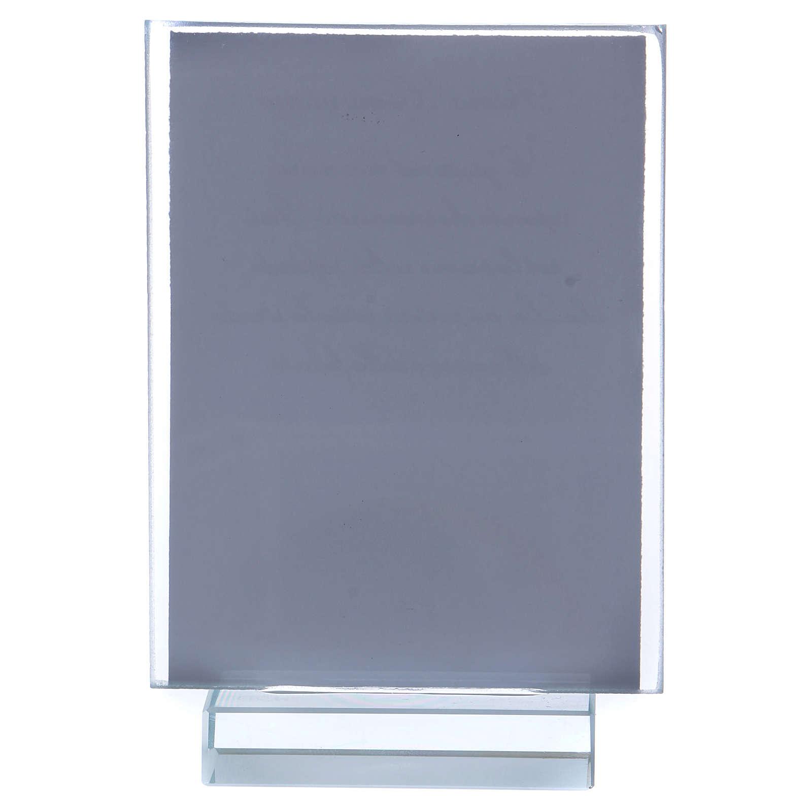 Recuerdo Comunión portarretrato vidrio y cristal 10x5 cm 3