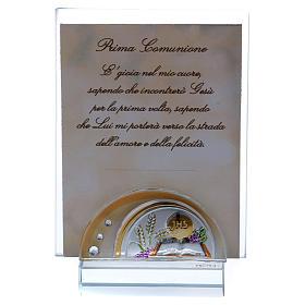 Recuerdo Comunión portarretrato vidrio y cristal 10x5 cm s1