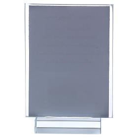 Recuerdo Comunión portarretrato vidrio y cristal 10x5 cm s3