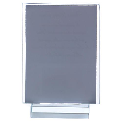Ricordino  Comunione portafoto vetro e cristallo 10x5 cm  3