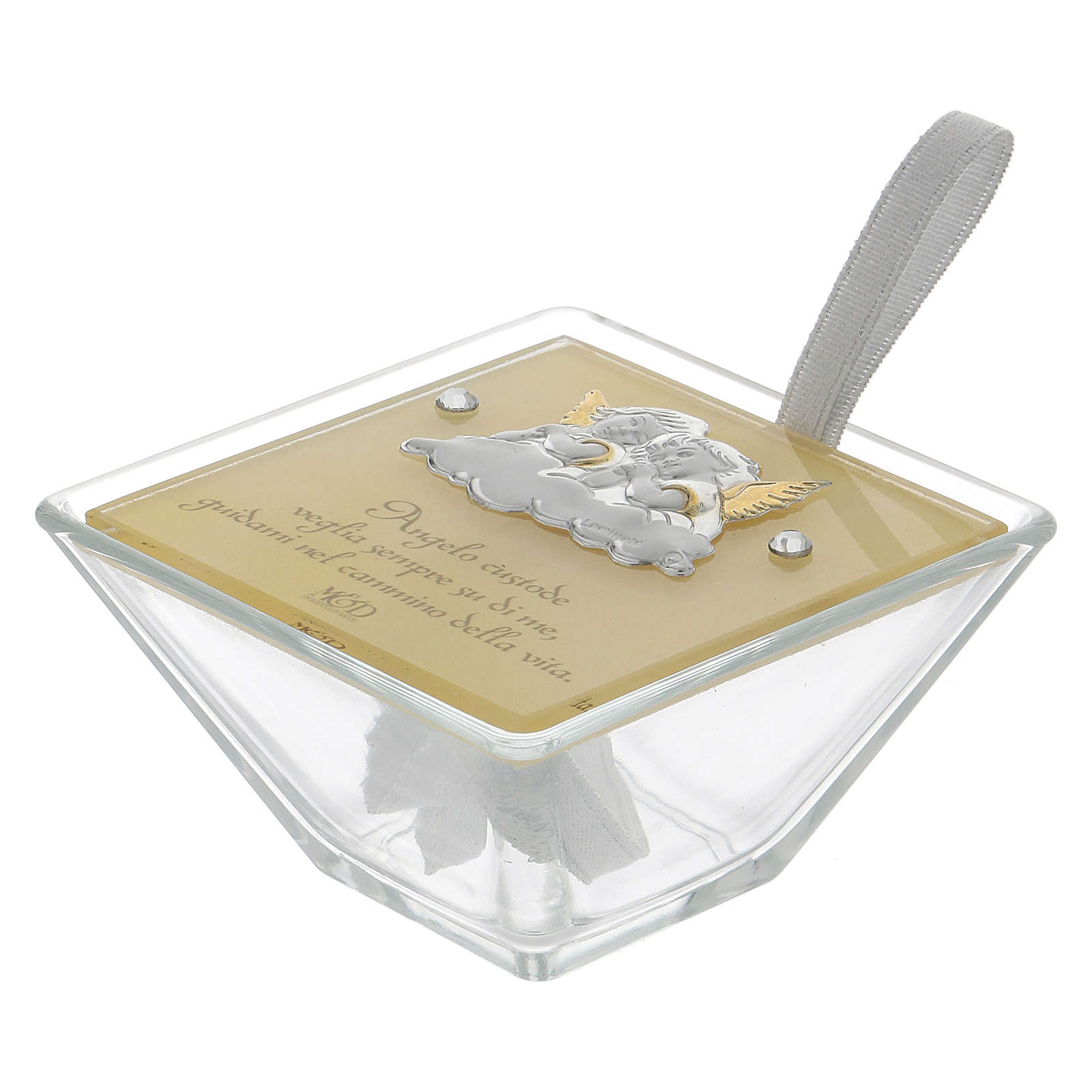 Party favour for Baptism trapezoid-shaped box with Angels 5x10x10 cm 3
