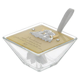 Party favour for Baptism trapezoid-shaped box with Angels 5x10x10 cm s3
