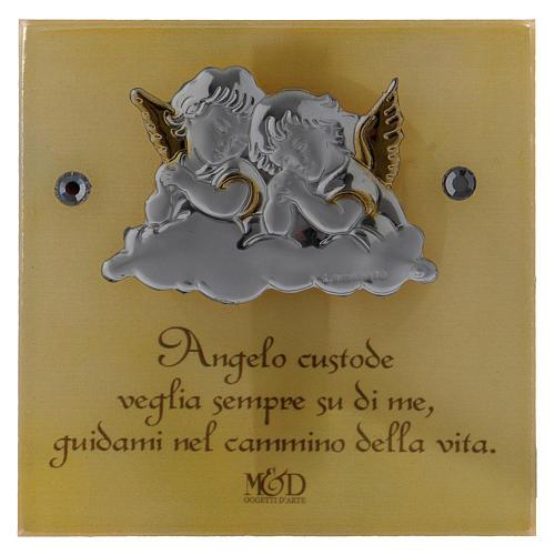 Bonbonnière Baptême boîte trapèze Anges 5x10x10 cm 2