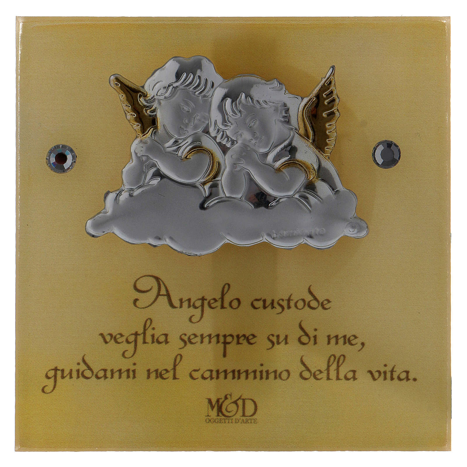 Bomboniera Battesimo scatolina trapezio Angeli 5x10x10 cm 3