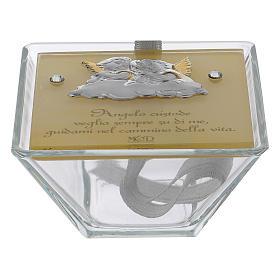 Pamiątka Bierzmowania pudełeczko trapez Anioły 5x10x10 cm s1