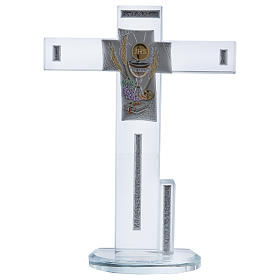 Idée-cadeau Communion croix avec Symboles 20x15 cm s1
