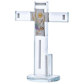 Idée-cadeau Communion croix avec Symboles 20x15 cm s2