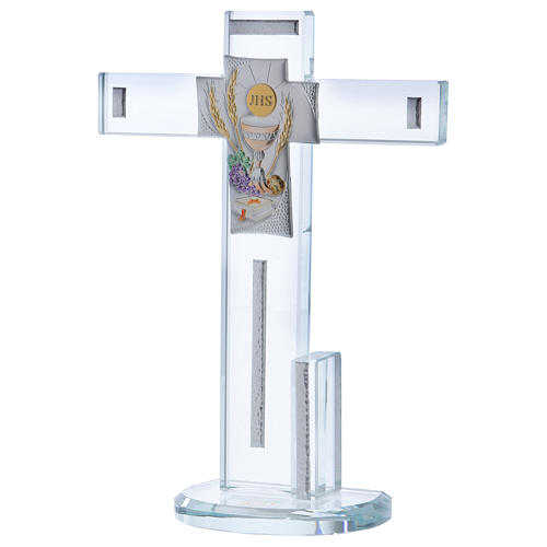 Idée-cadeau Communion croix avec Symboles 20x15 cm 2