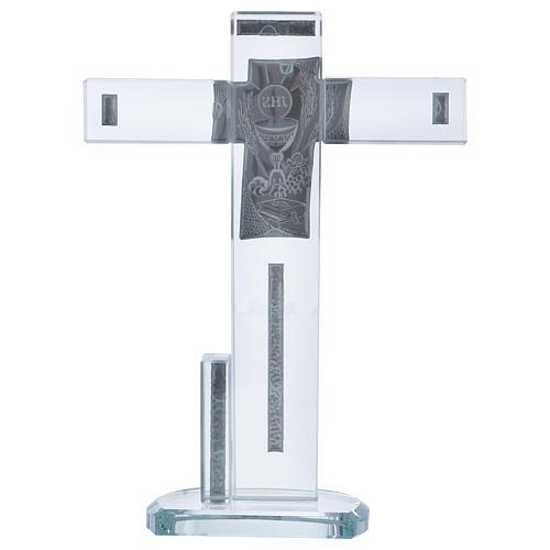 Idée-cadeau Communion croix avec Symboles 20x15 cm 3