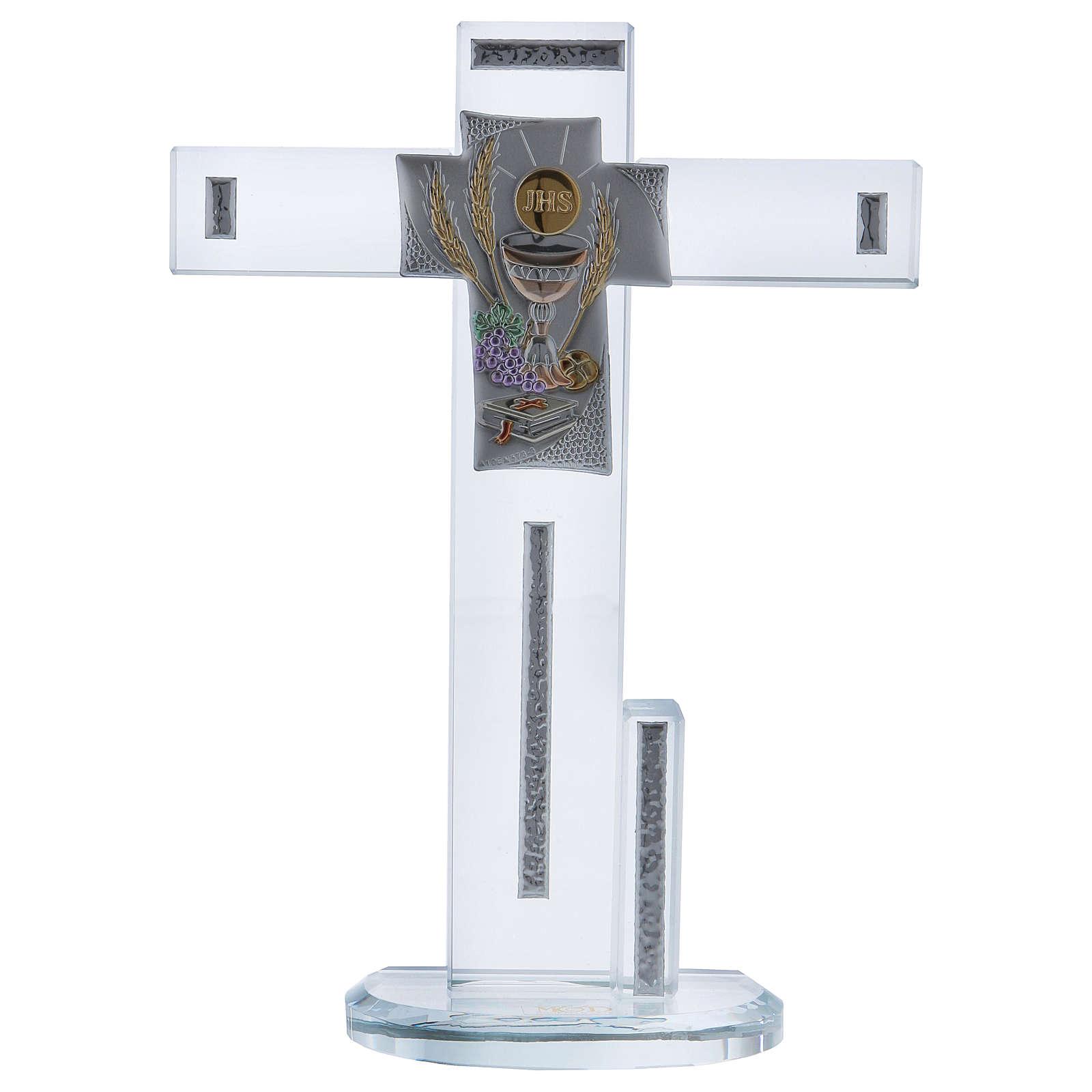 Idea regalo Comunione croce con Simboli 20x15 cm 3