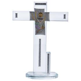 Idea regalo Comunione croce con Simboli 20x15 cm s1
