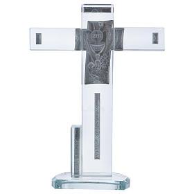 Idea regalo Comunione croce con Simboli 20x15 cm s3