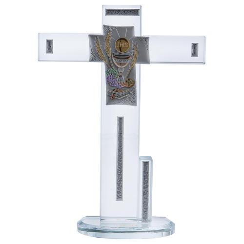 Idea regalo Comunione croce con Simboli 20x15 cm 1