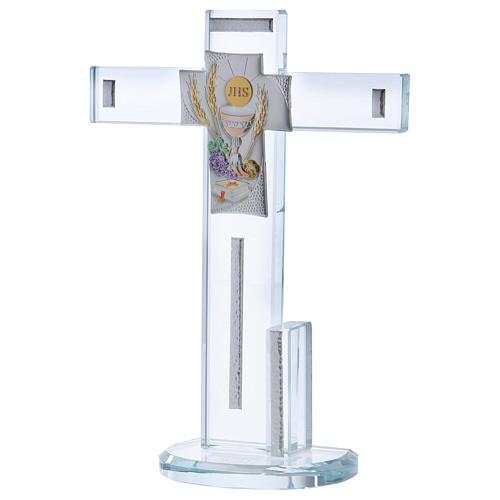 Idea regalo Comunione croce con Simboli 20x15 cm 2