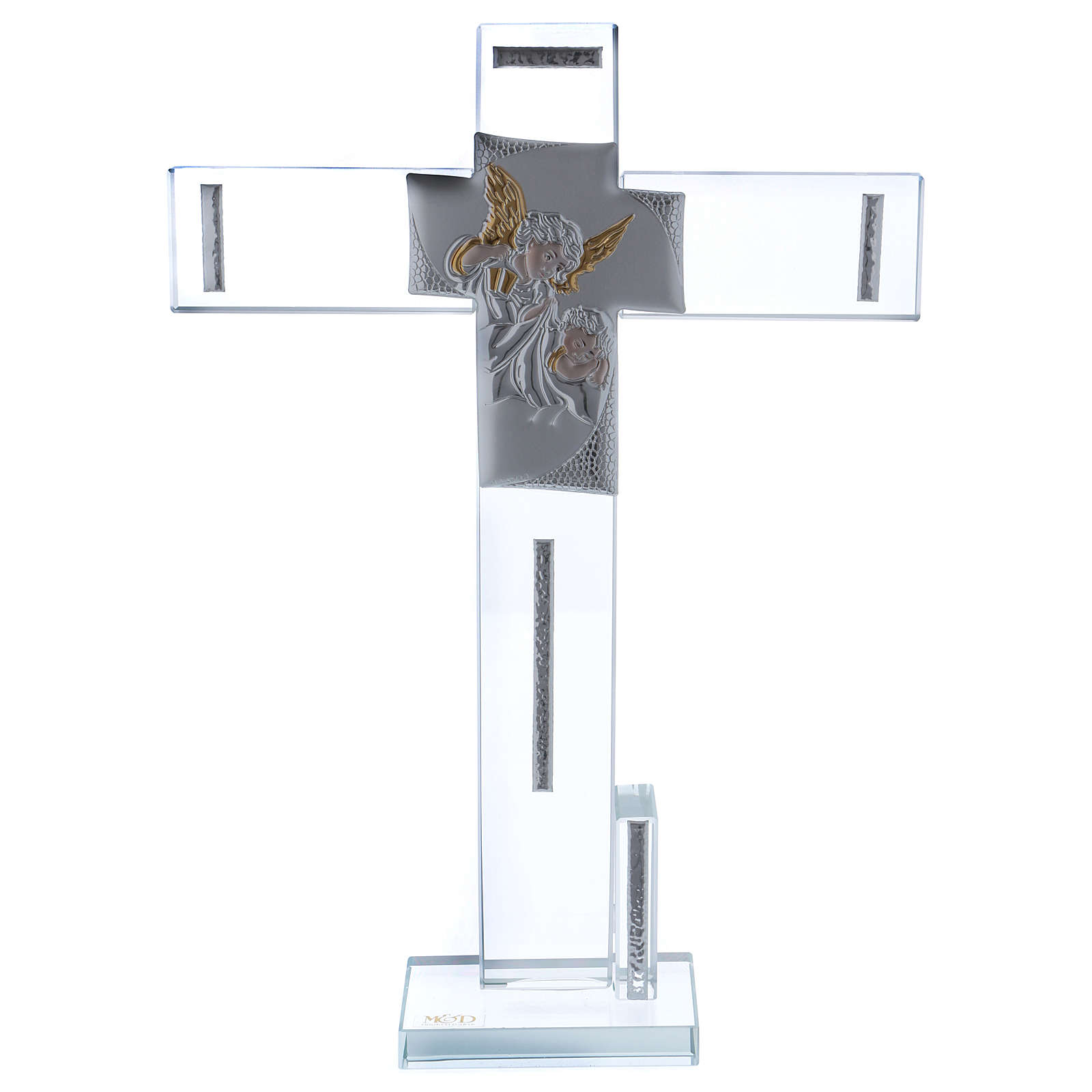 Idée-cadeau baptême croix avec ange 30x20 cm 3