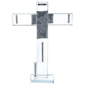Idea regalo Battesimo Croce con Angelo 30x20 cm s3