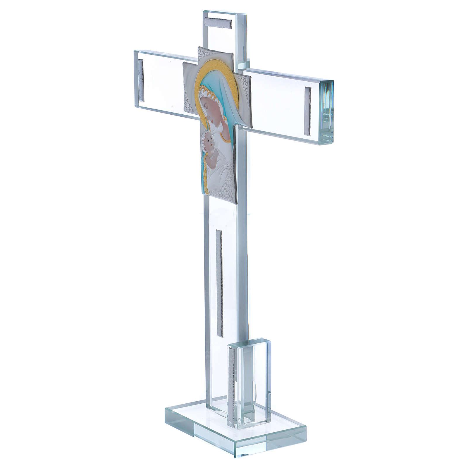 Idea regalo Croce con immagine della Maternità 30x20 cm 3