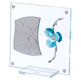 Pamiątka obrazek Anioł koniczyna woda morska 10x10 cm s2
