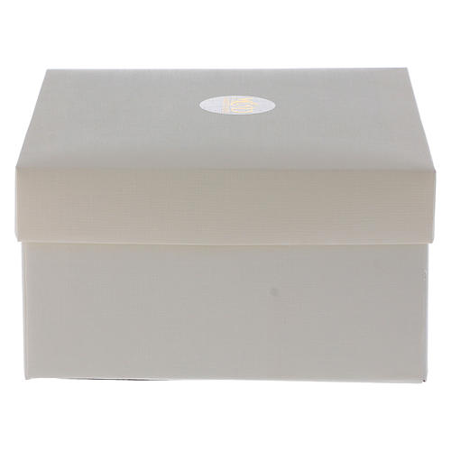Idea regalo croce verde cristallo e lamina argento 30x25 cm 4
