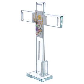 Idea regalo para Comunión cruz vidrio y cristal 30x20 cm s2