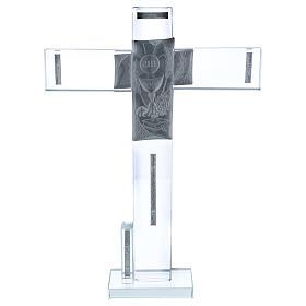 Idea regalo para Comunión cruz vidrio y cristal 30x20 cm s3