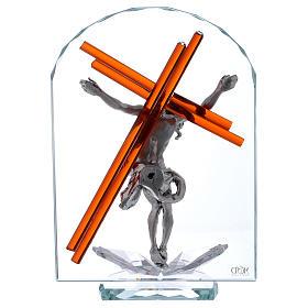Idea regalo arco con crucifijo 25x15 cm s3