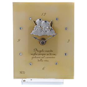 Reloj con Ángeles de la Guarda y escrita 15x10 cm