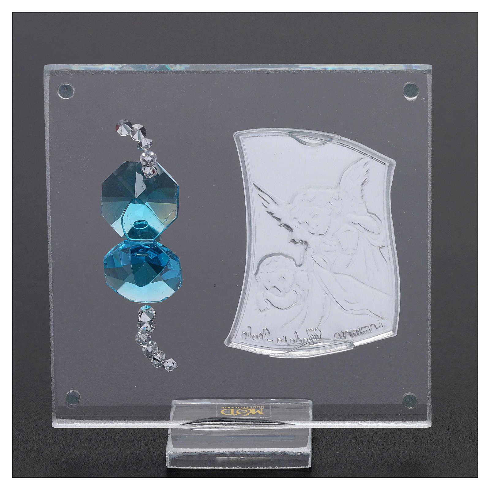 Party favour with Guardian Angel on foil 5x5 cm 3