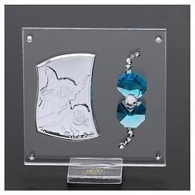 Pamiątka Anioł Stróż na płytce 5x5 cm s2