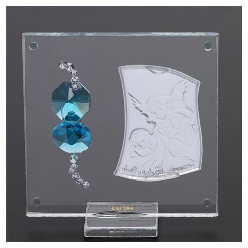 Pamiątka Anioł Stróż na płytce 5x5 cm 3