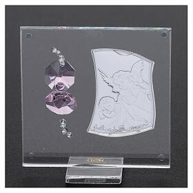 Favor Guardian angel of silver foil for girl 3x3 in s3