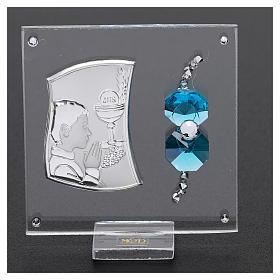 Bomboniera Comunione bambino vetro e cristallo 5x5 cm s2