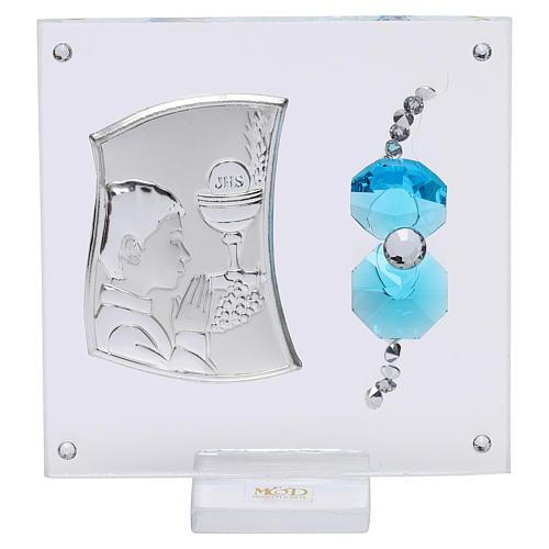 Bomboniera Comunione bambino vetro e cristallo 5x5 cm 1