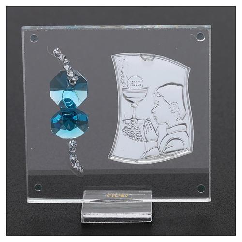Bomboniera Comunione bambino vetro e cristallo 5x5 cm 3