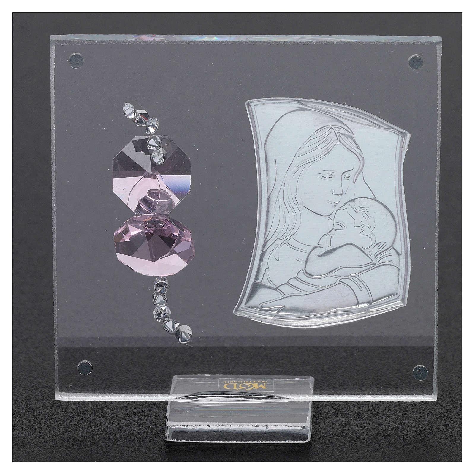 Bombonera sagrada imagen Maternidad 5x5 cm 3