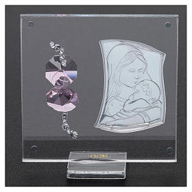 Bombonera sagrada imagen Maternidad 5x5 cm s3