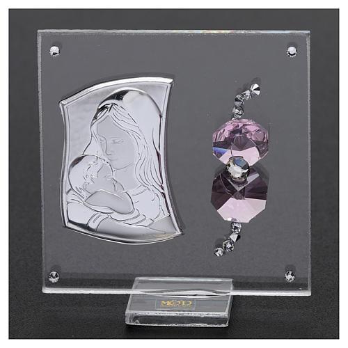 Bombonera sagrada imagen Maternidad 5x5 cm 2