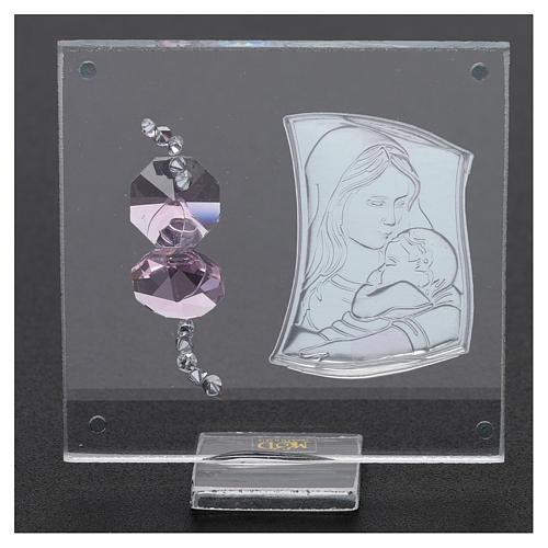 Bomboniera sacra immagine Maternità 5x5 cm  3