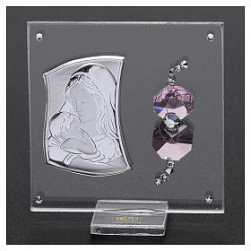 Pamiątka sakralna wizerunek Macierzyństwo 5x5 cm s2